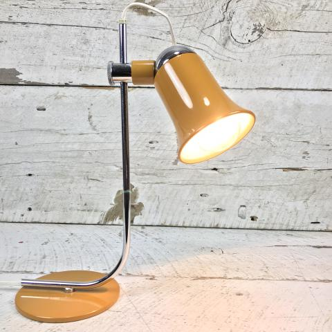 Vintage Italian Fully Articulated Magnetic Table Desk Lamp Yellow Mustard
